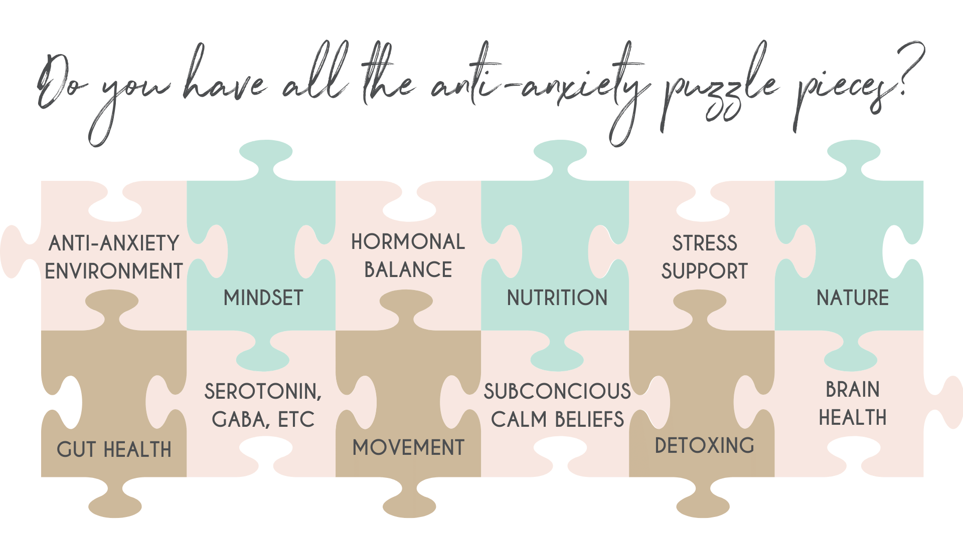 Antianxiety puzzle pieces